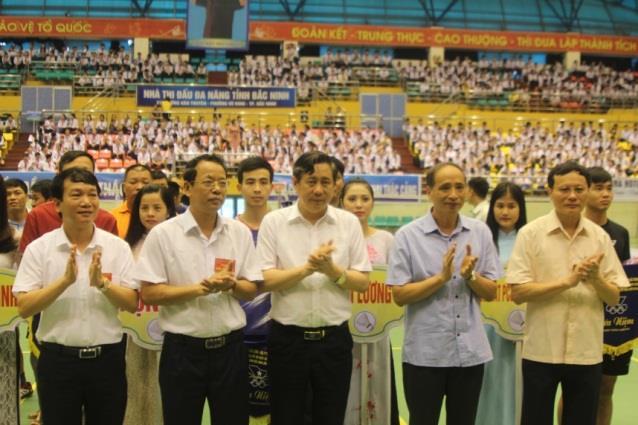 Khai mạc Giải Cầu lông cây vợt xuất sắc các nhóm tuổi, tranh Cúp Truyền hình Bắc Ninh lần thứ 2, năm 2018