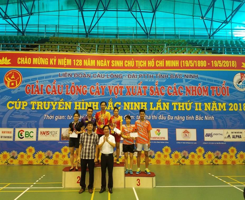 Bế mạc Giải cầu lông cúp Truyền hình Bắc Ninh lần thứ II năm 2018
