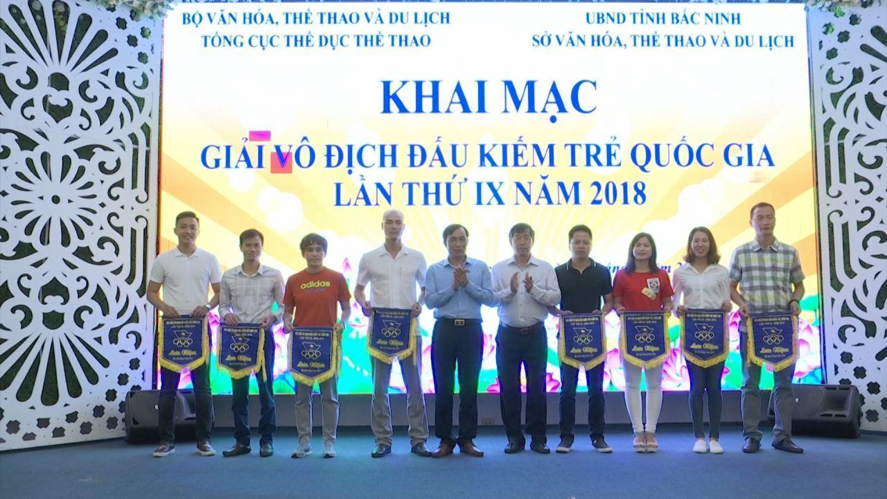 Khai mạc giải Đấu kiếm trẻ Quốc gia lần thứ IX năm 2018