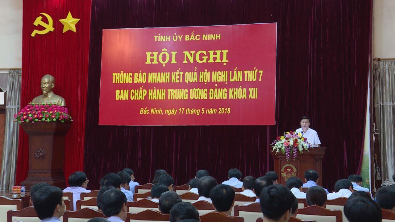 Hội nghị thông báo nhanh kết quả Hội nghị lần thứ 7, Ban Chấp hành Trung ương Đảng khóa XII