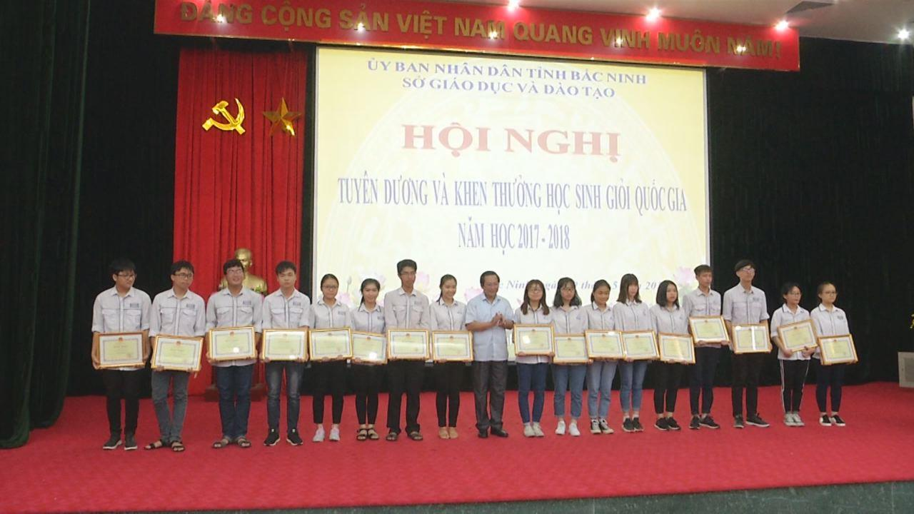 Bắc Ninh, tuyên dương học sinh giỏi Quốc gia năm học 2017-2018