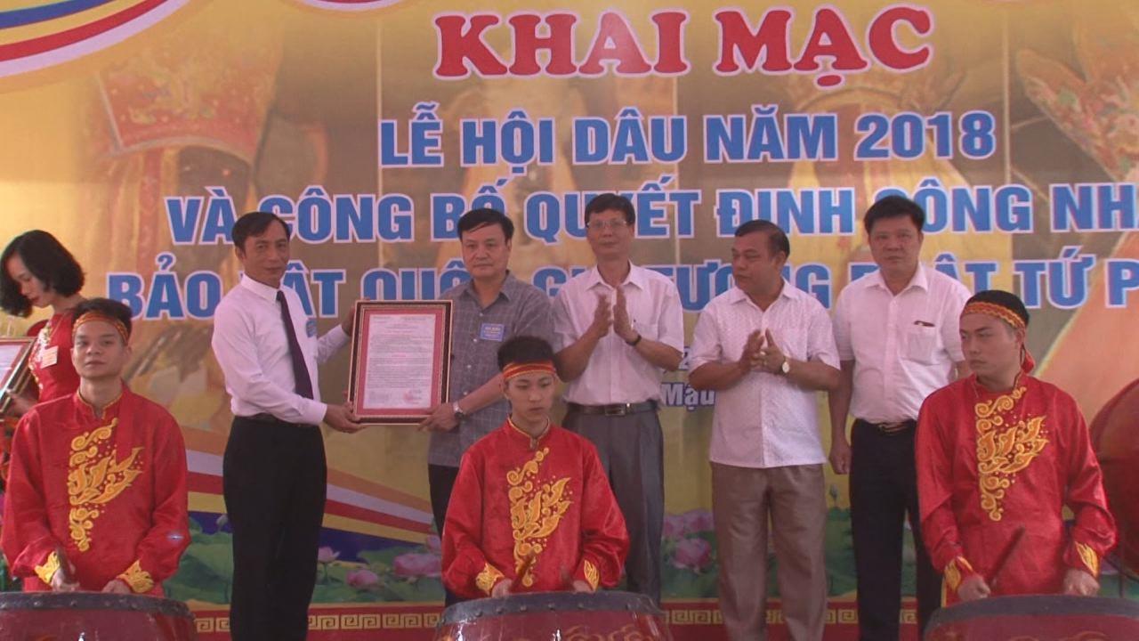 Phó Chủ tịch UBND tỉnh Nguyễn Văn Phong dự Lễ khai hội Chùa Dâu 2018