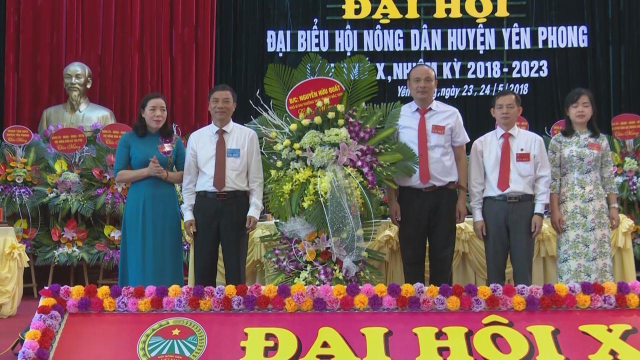 Đại hội Đại biểu Hội Nông dân huyện Yên Phong lần thứ 10 nhiệm kỳ 2018 - 2023