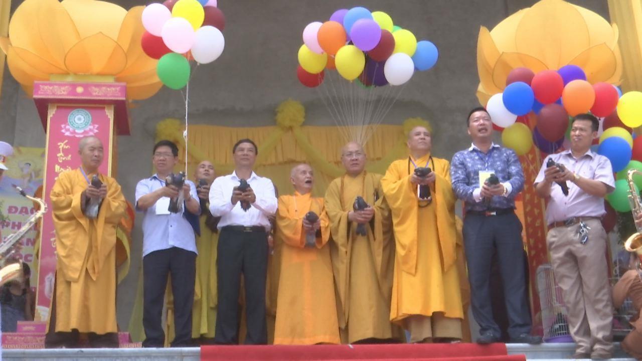 Lãnh đạo tỉnh dự Đại lễ Phật đản tại chùa Đại Thành