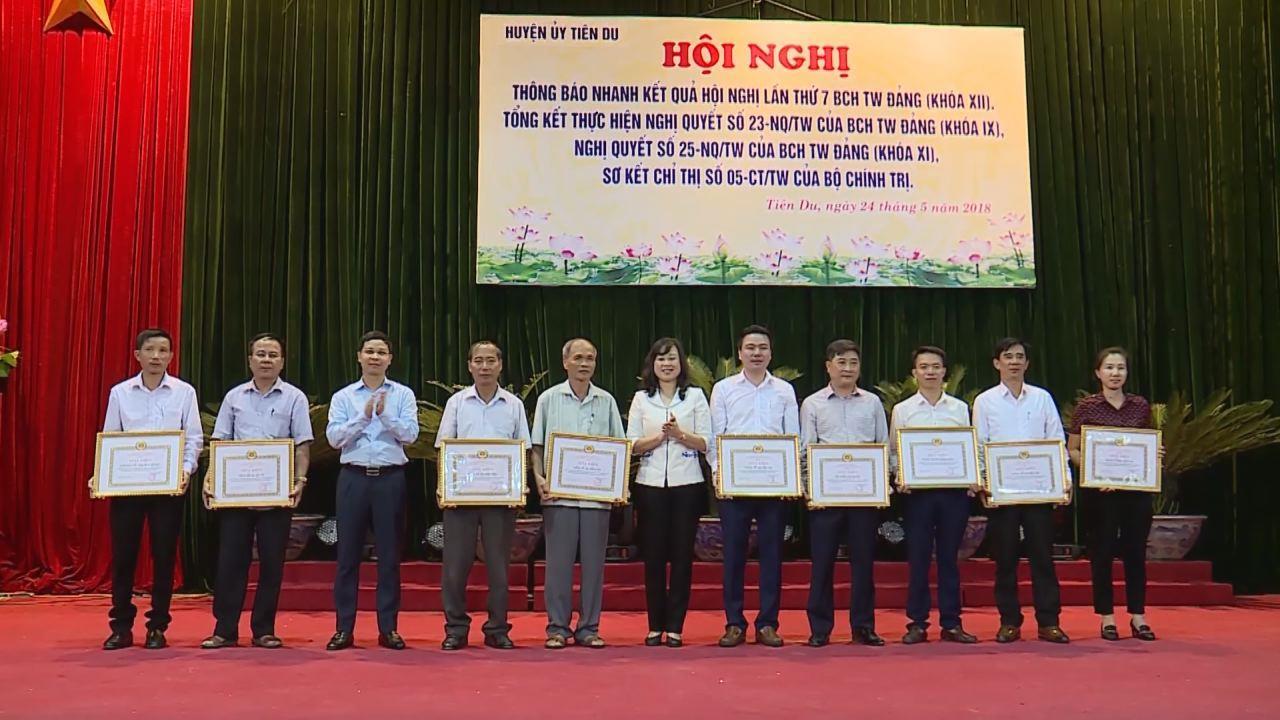 Tiên Du tổng kết 15 năm thực hiện Nghị quyết số 23, số 25  của Ban chấp hành Trung ương Đảng khoá XI