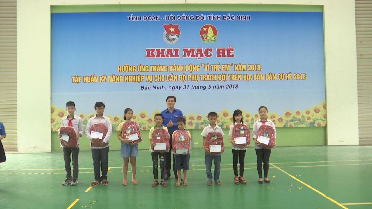 Tỉnh đoàn: Hưởng ứng tháng hành động vì trẻ em và Khai mạc hè năm 2018