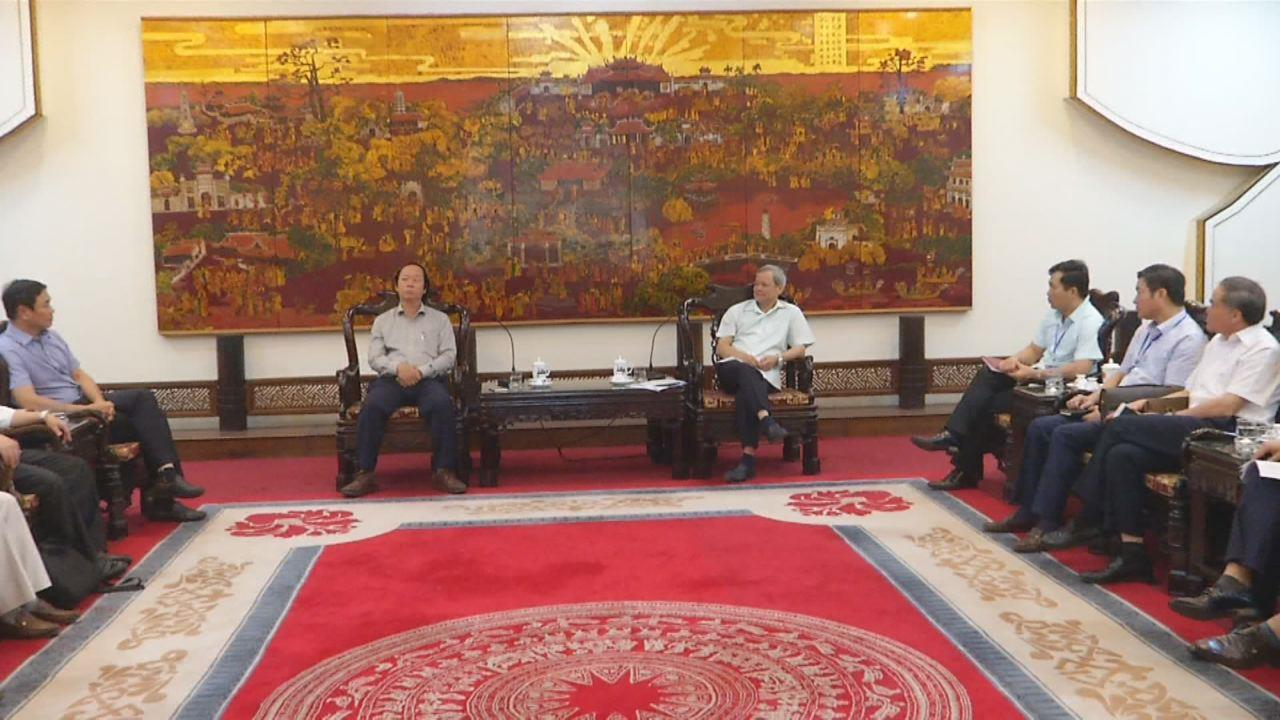 Bộ Tài nguyên và Môi trường làm việc với tỉnh Bắc Ninh  triển khai xây dựng Trường Đại học Tài nguyên và Môi Trường