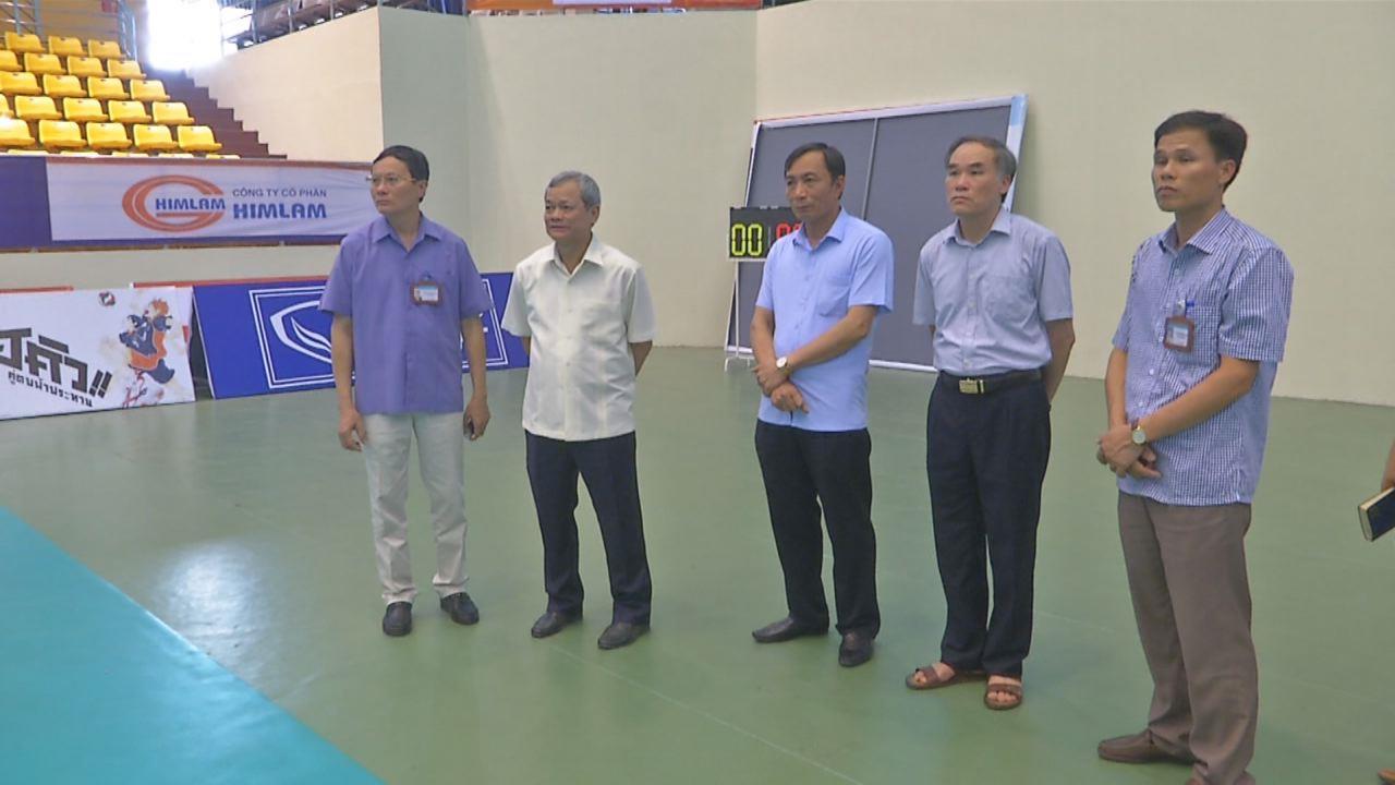 Chủ tịch UBND tỉnh kiểm tra công tác tổ chức giải Vô địch bóng chuyền U19 nữ châu Á