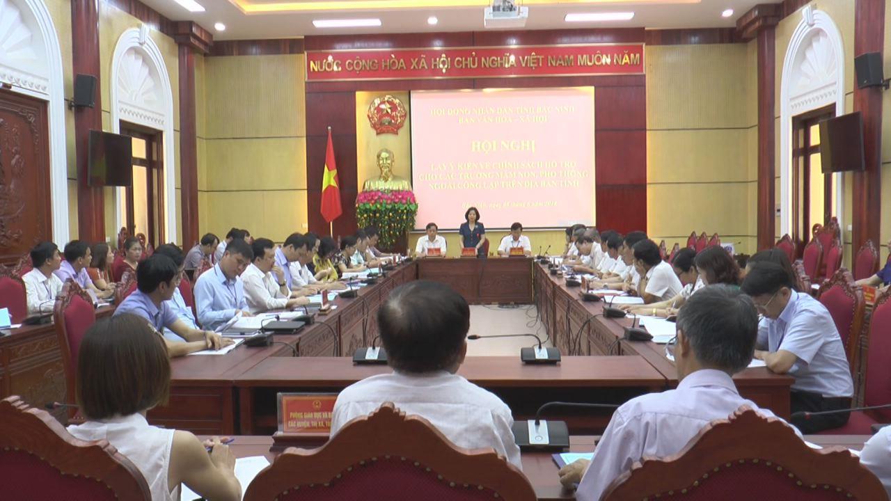 HĐND tỉnh lấy ý kiến xây dựng Đề án Phát triển hệ thống giáo dục mầm non và phổ thông ngoài công lập