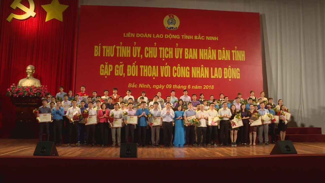 Lãnh đạo tỉnh gặp gỡ, đối thoại với công nhân lao động