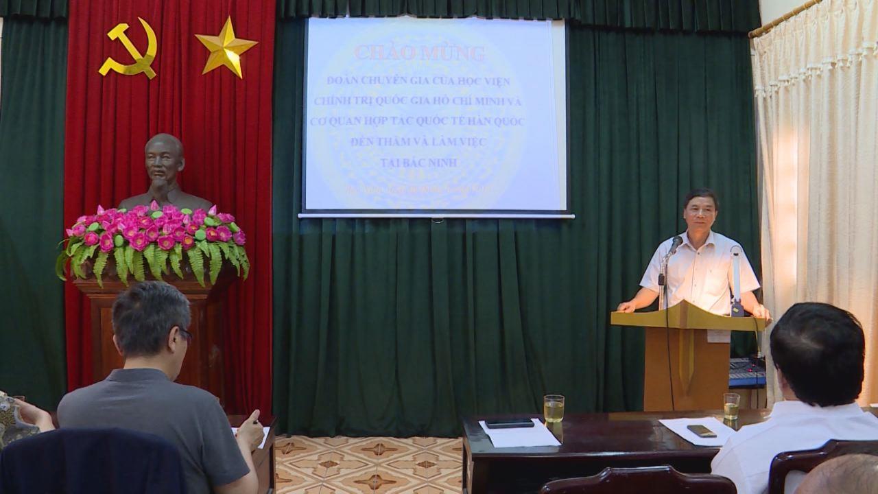 Đoàn chuyên gia Học viện Chính trị Quốc gia Hồ Chí Minh  và Cơ quan Hợp tác quốc tế Hàn Quốc (KOICA) thăm và làm việc tại Bắc Ninh