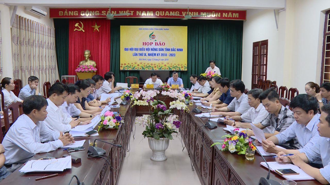 Họp báo về việc tổ chức Đại hội Đại biểu Hội Nông dân tỉnh lần thứ IX