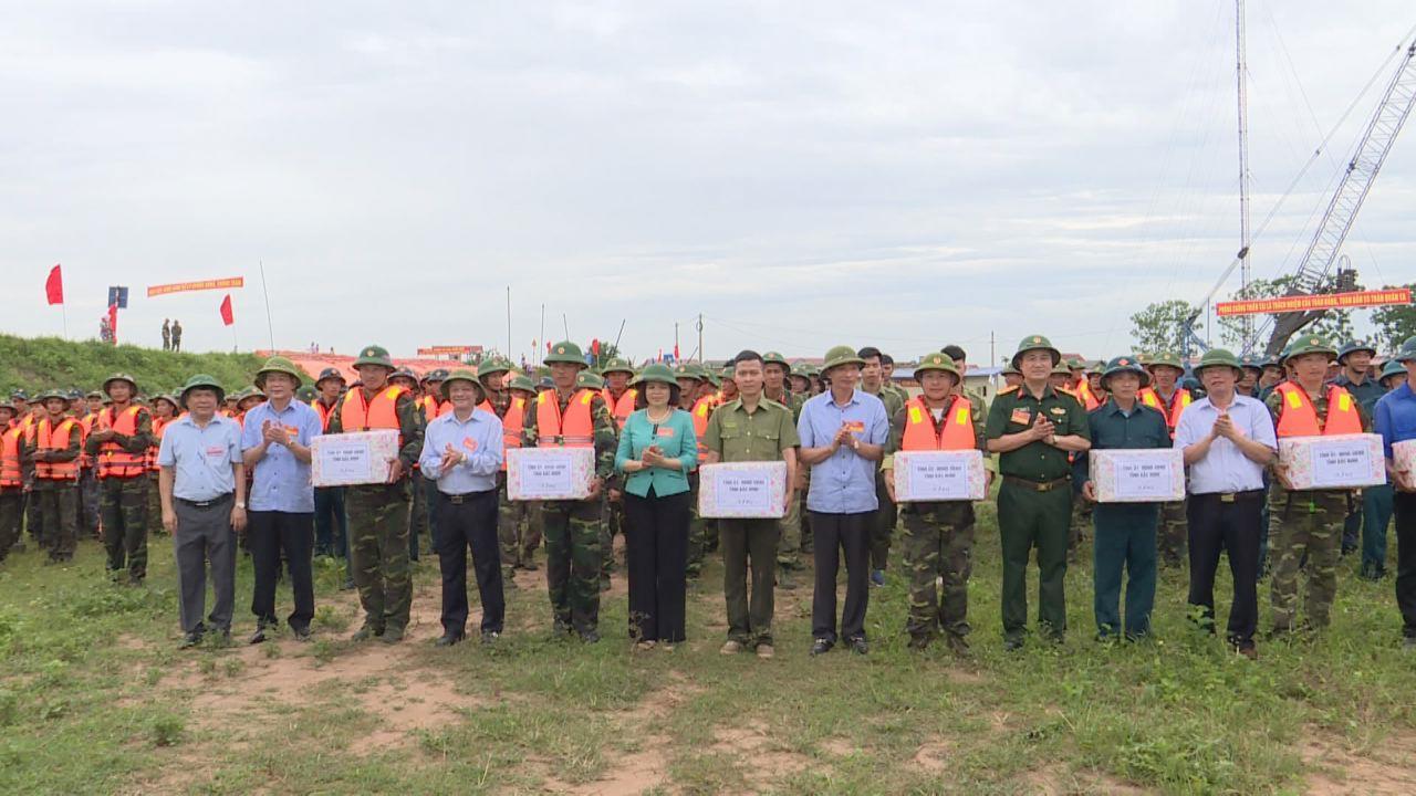 Diễn tập phòng chống thiên tai và tìm kiếm cứu nạn huyện Thuận Thành