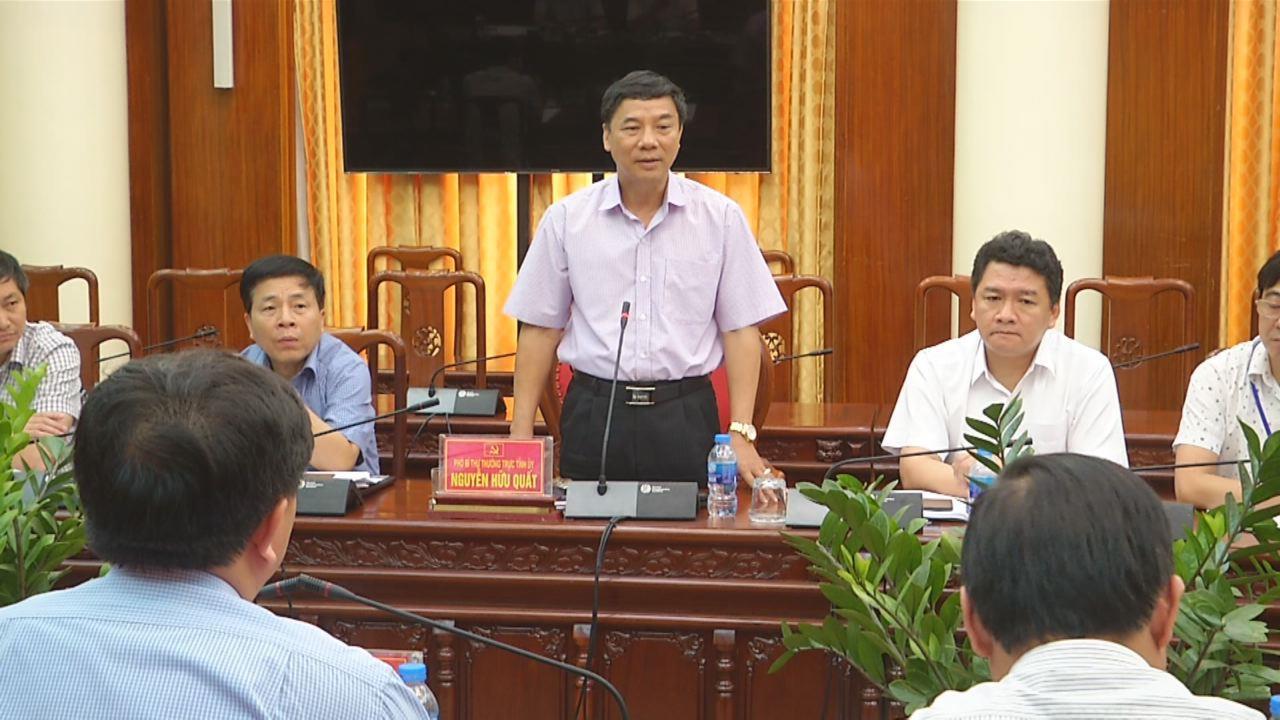 Phó Bí thư Thường trực Tỉnh ủy tiếp đoàn công tác Tỉnh ủy Hà Giang