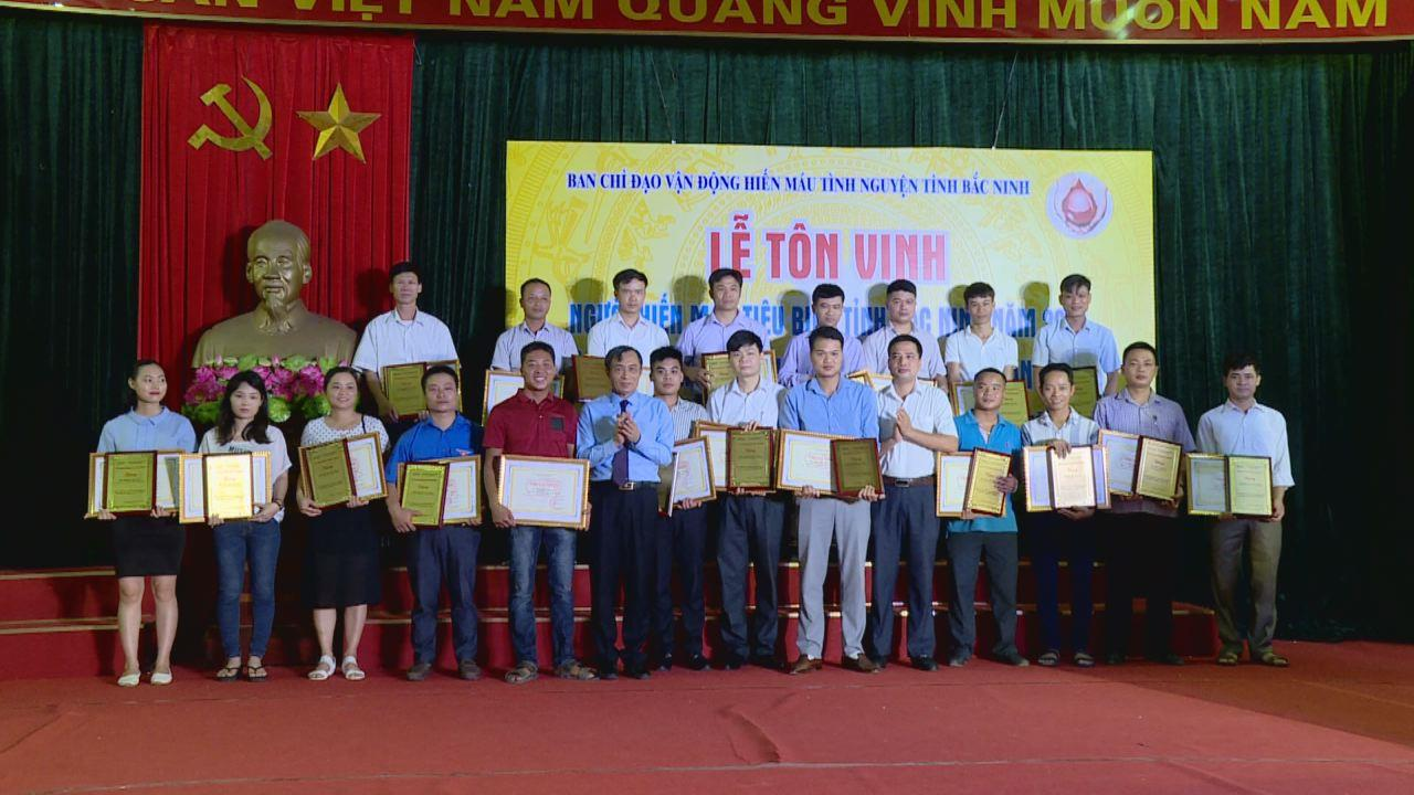 Bắc Ninh tôn vinh 72 cá nhân hiến máu tiêu biểu tỉnh năm 2018