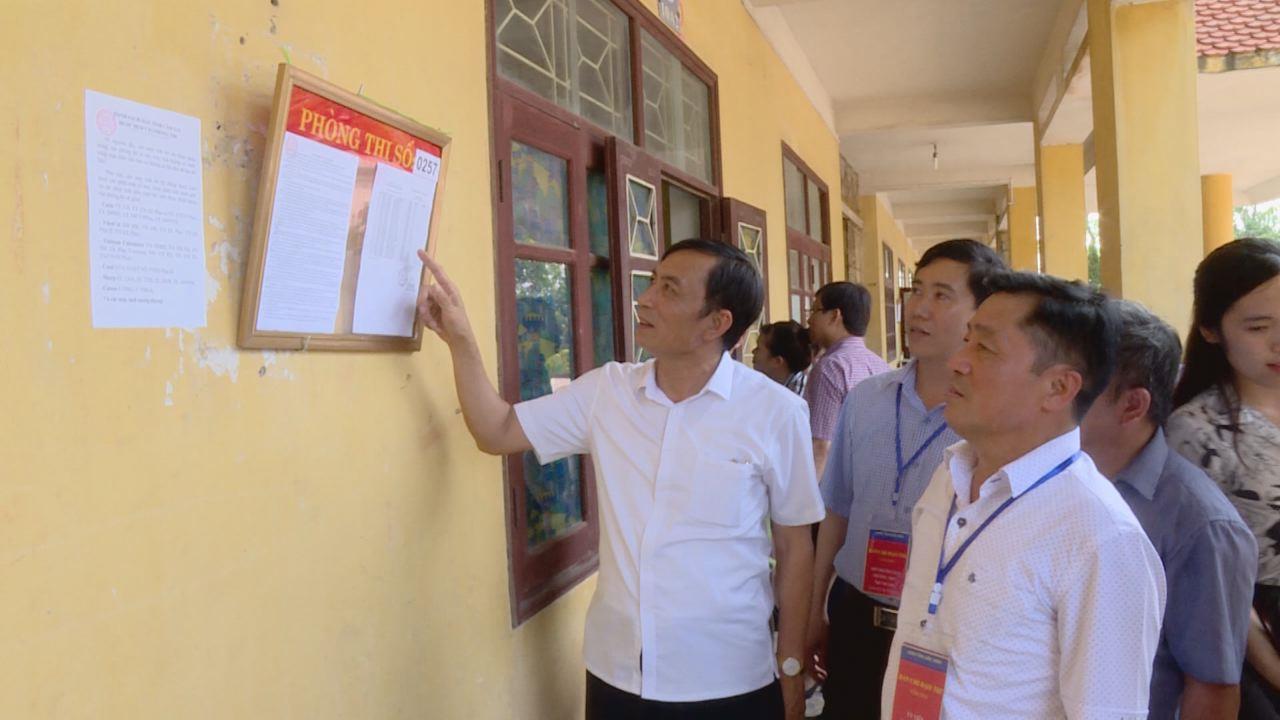 Lãnh đạo tỉnh kiểm tra công tác chuẩn bị thi THPT Quốc gia năm 2018