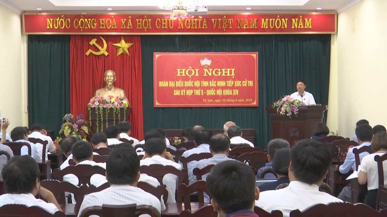 Đoàn đại biểu Quốc hội tỉnh tiếp xúc cử tri tại thị xã Từ Sơn, huyện Yên Phong