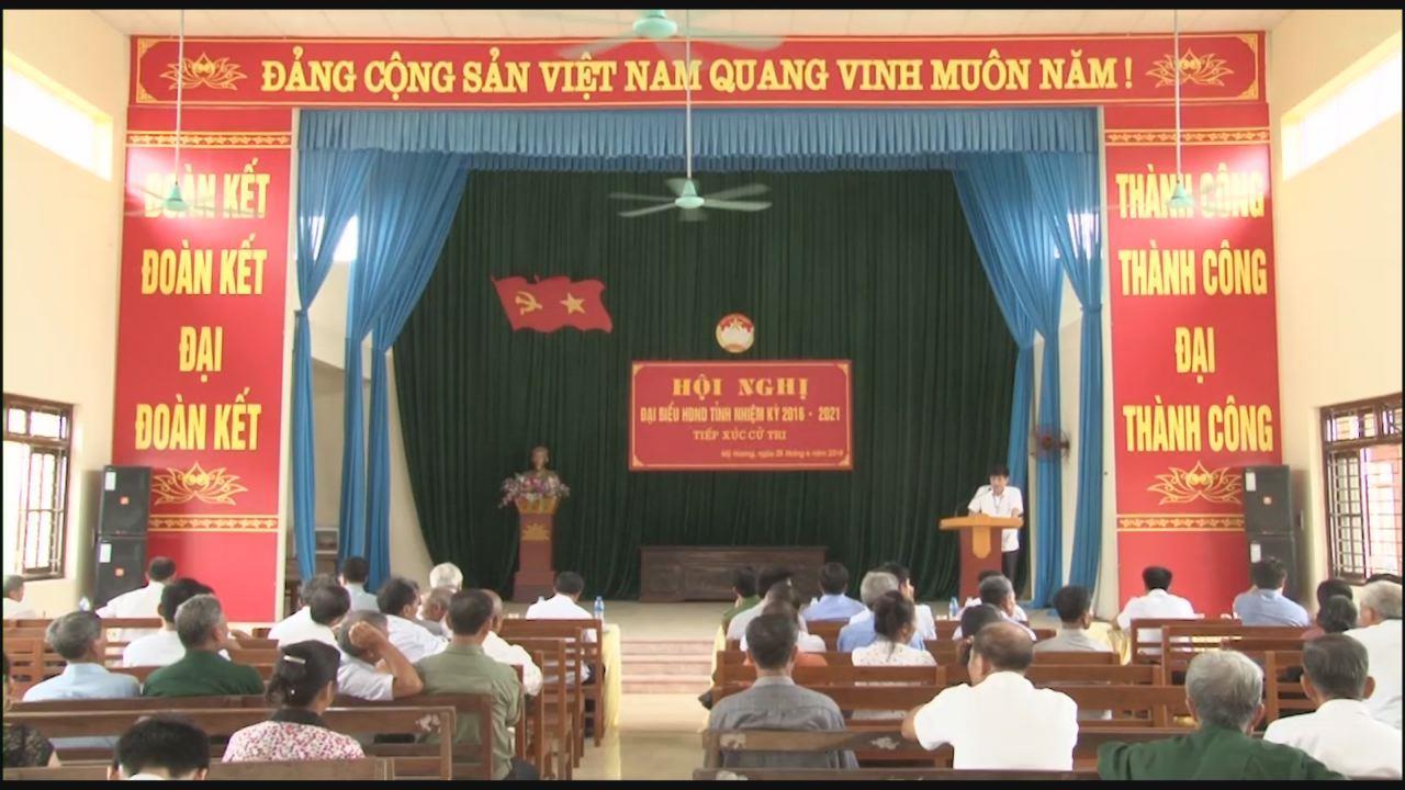 Đại biểu HĐND tỉnh tiếp xúc cử tri xã Mỹ Hương, Lương Tài
