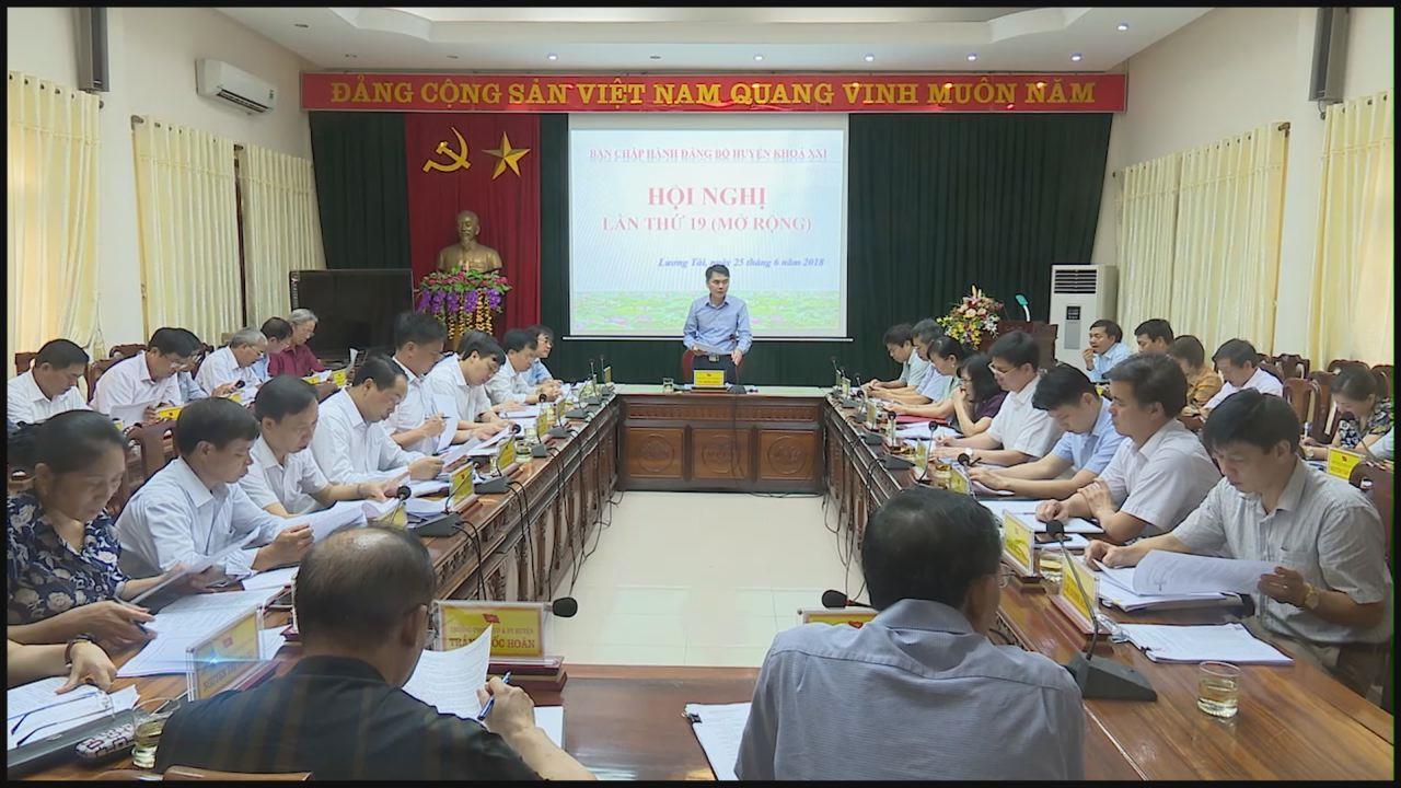 Hội nghị BCH Đảng bộ huyện Lương Tài khóa XXI Hội nghị lần thứ 19