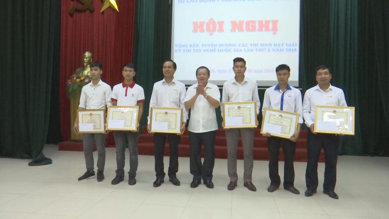 Tuyên dương thí sinh đạt giải kỳ thi tay nghề Quốc gia lần thứ X năm 2018
