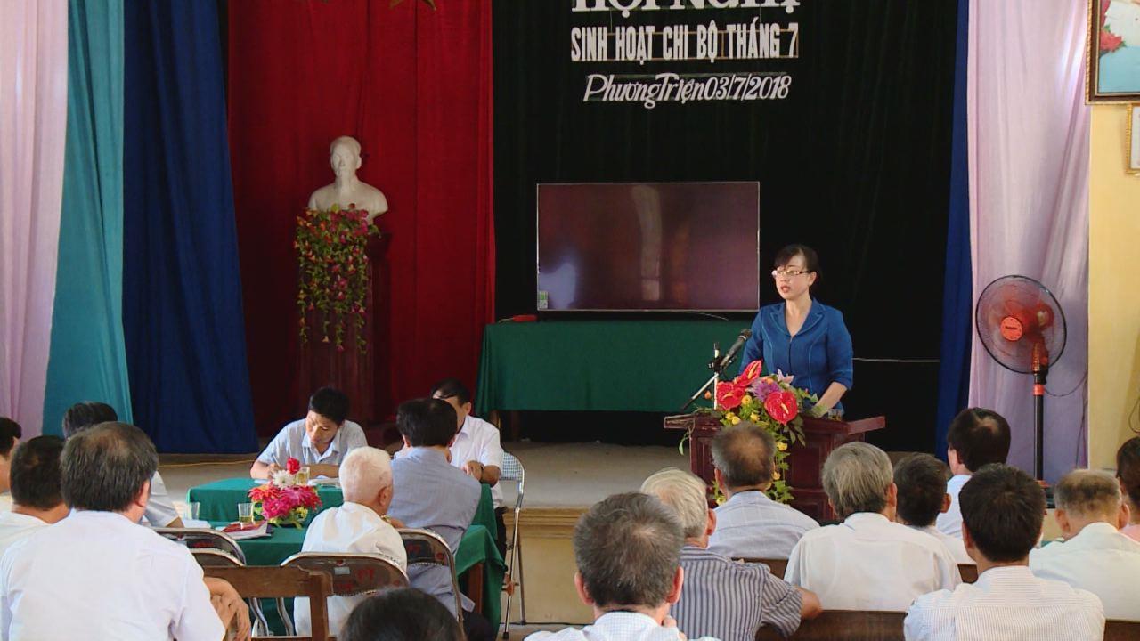 Đồng chí Đào Hồng Lan dự sinh hoạt chi bộ cơ sở tại huyện Gia Bình