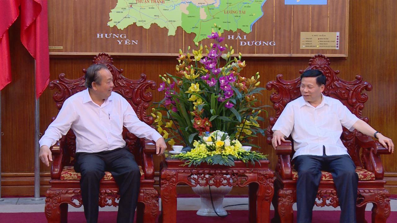 Phó Thủ tướng Thường trực Chính phủ  làm việc với tỉnh Bắc Ninh