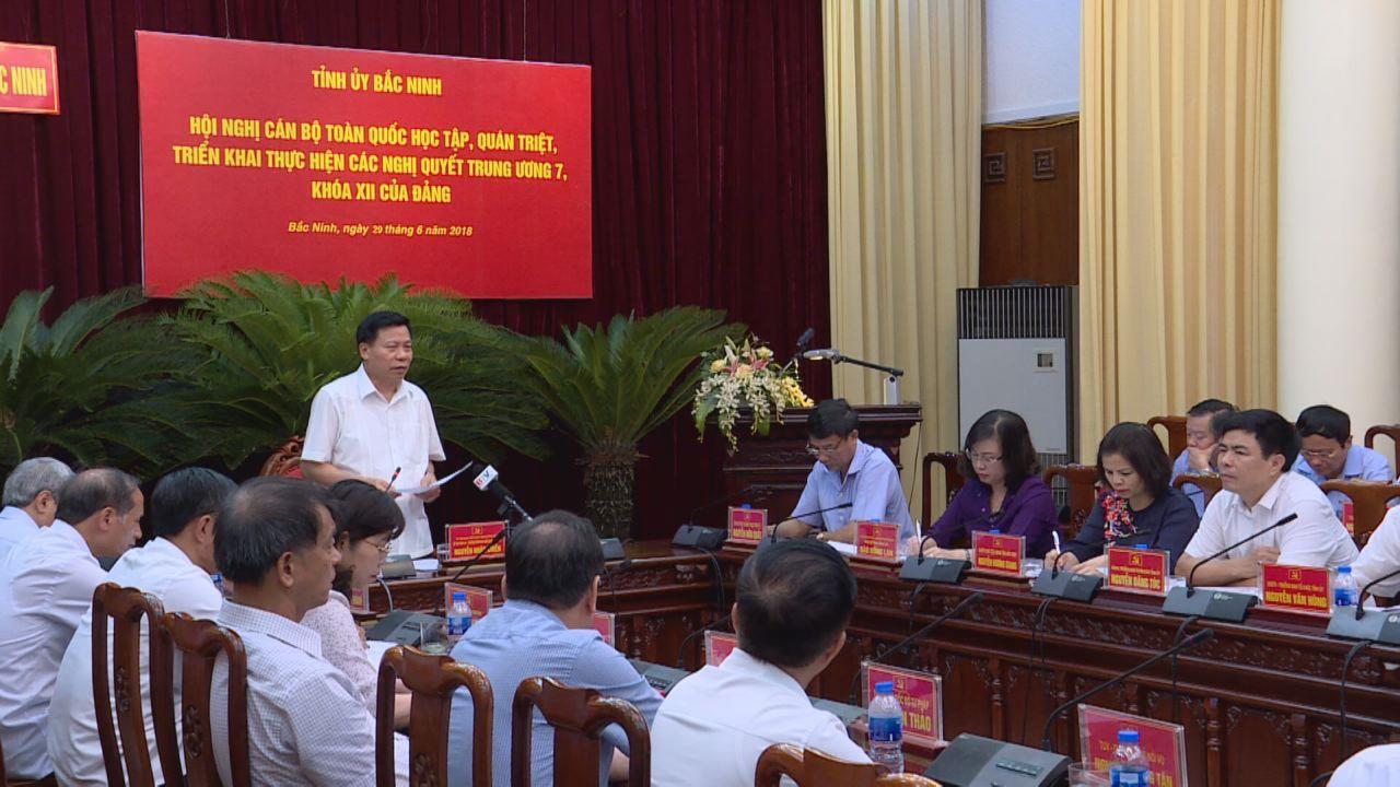 Tỉnh ủy: Thảo luận, đóng góp ý kiến vào nội dung và Dự thảo chương trình hành động thực hiện các Nghị quyết Trung ương 7, khóa XII của Đảng