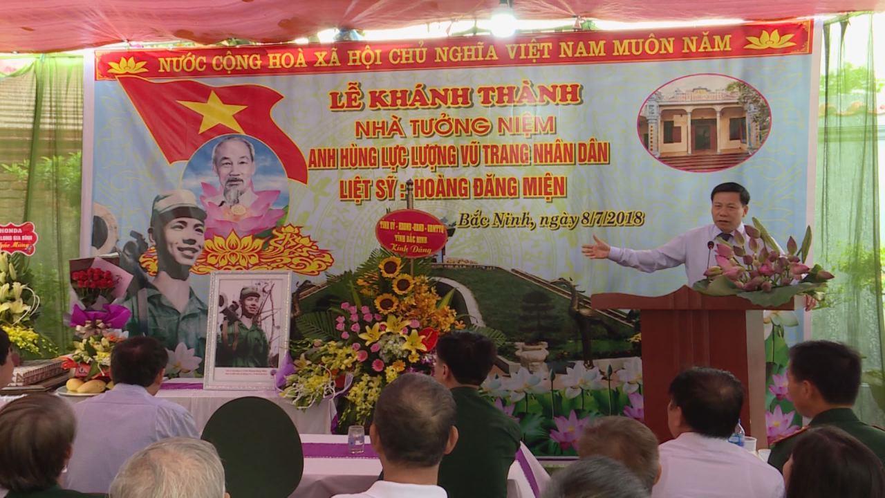 Khánh thành Nhà tưởng niệm liệt sỹ Hoàng Đăng Miện