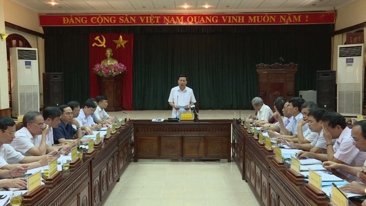 Đoàn công tác của tỉnh làm việc tại huyện Quế Võ