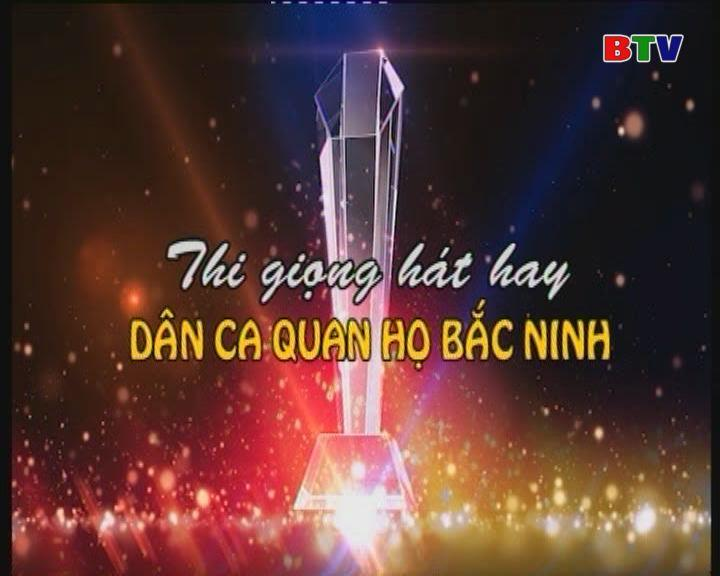 Chung kết thi giọng hát hay dân ca Quan họ Bắc Ninh phần 2