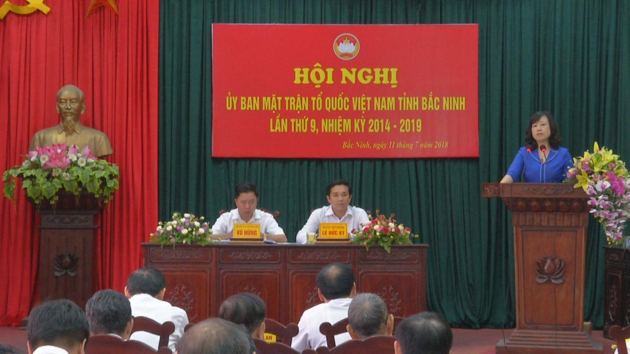 Ủy ban MTTQ  tỉnh tổ chức Hội nghị lần thứ 9, nhiệm kỳ 2014-2019