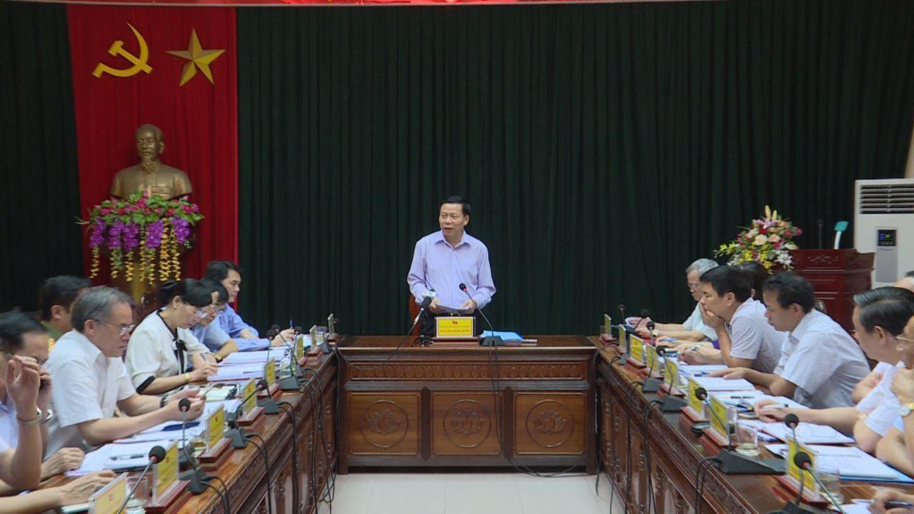 Đoàn công tác của tỉnh làm việc tại huyện Lương Tài