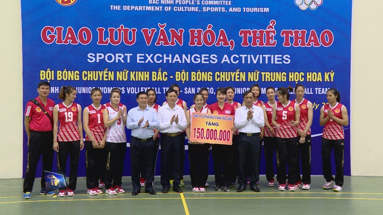 Giao lưu bóng chuyền nữ Trung học Hoa Kỳ  và bóng chuyền nữ Kinh Bắc