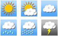 Tin cảnh báo mưa dông diện rộng