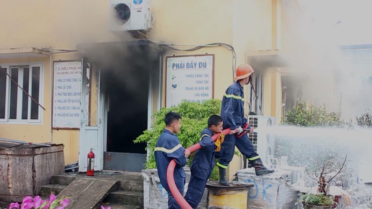 Kịp thời chữa cháy hiệu quả trạm biến áp 110Kv Võ Cường