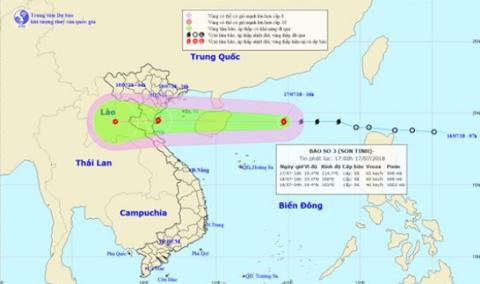 TIN BÃO KHẨN CẤP  Cơn bão số 03 (Sơn-Tinh)