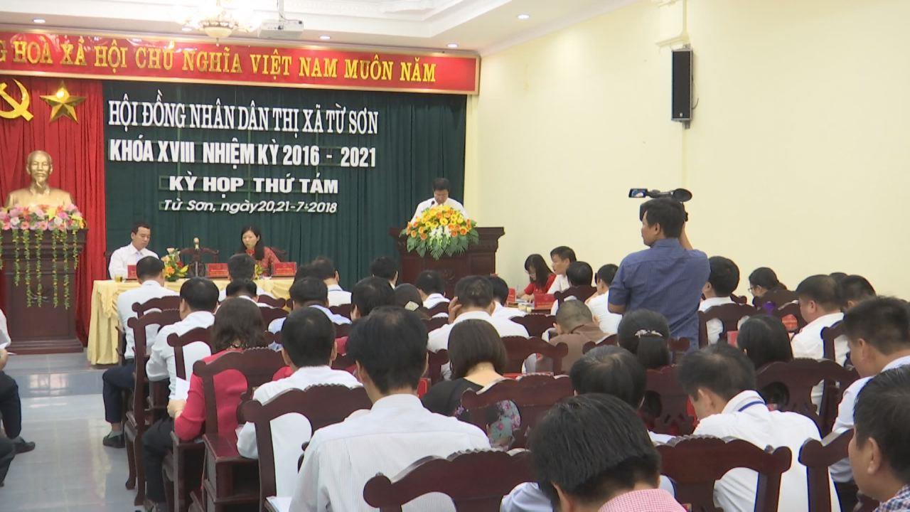 HĐND thị xã Từ Sơn tổ chức kỳ họp thứ 8, khóa 18