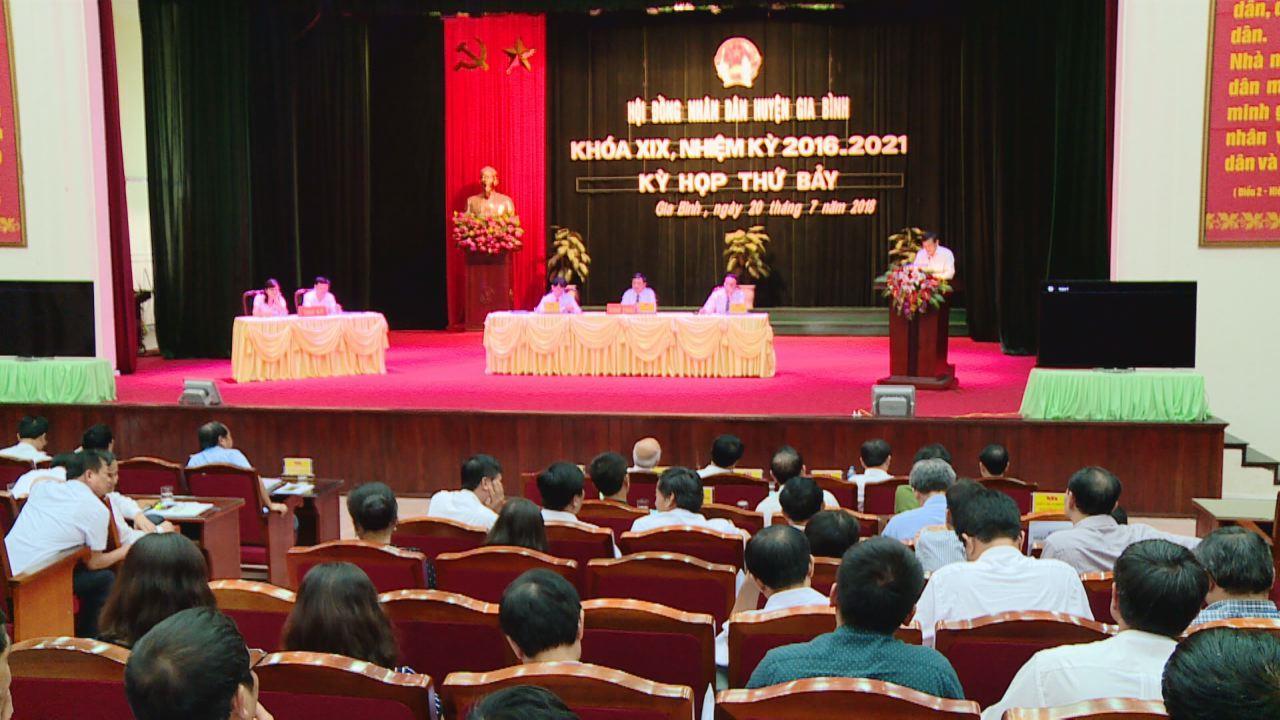 HĐND huyện Gia Bình khai mạc kỳ họp thứ 7, khóa XIX