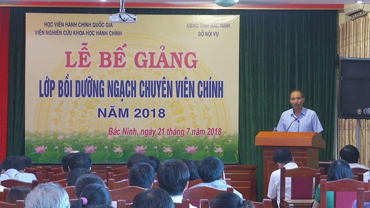 Bế giảng lớp bồi dưỡng ngạch chuyên viên chính năm 2018