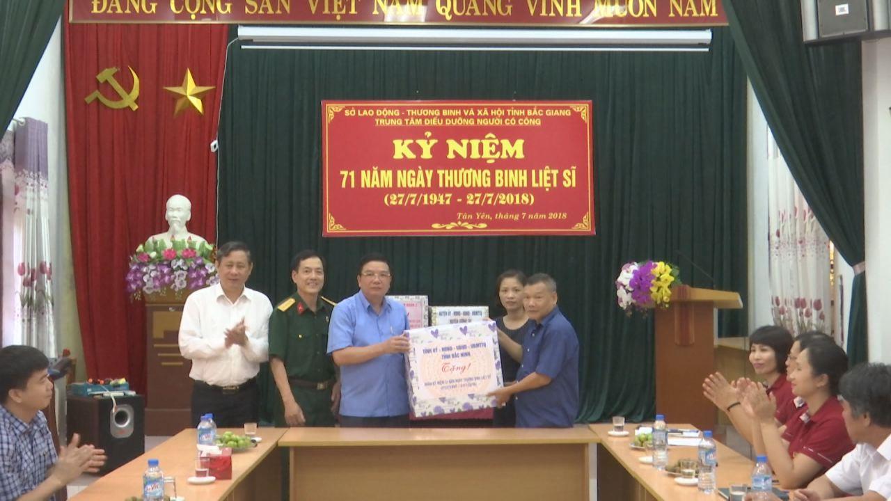 Lãnh đạo tỉnh thăm, tặng quà thương, bệnh binh  tại Trung tâm Nuôi dưỡng người có công tỉnh Bắc Giang
