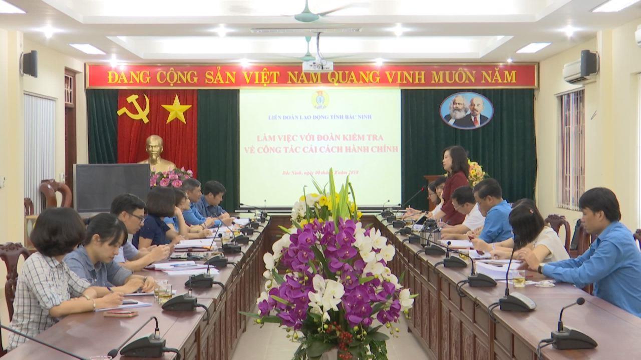 Tổng Liên đoàn Lao động Việt Nam làm việc về công tác cải cách hành chính tại Bắc Ninh
