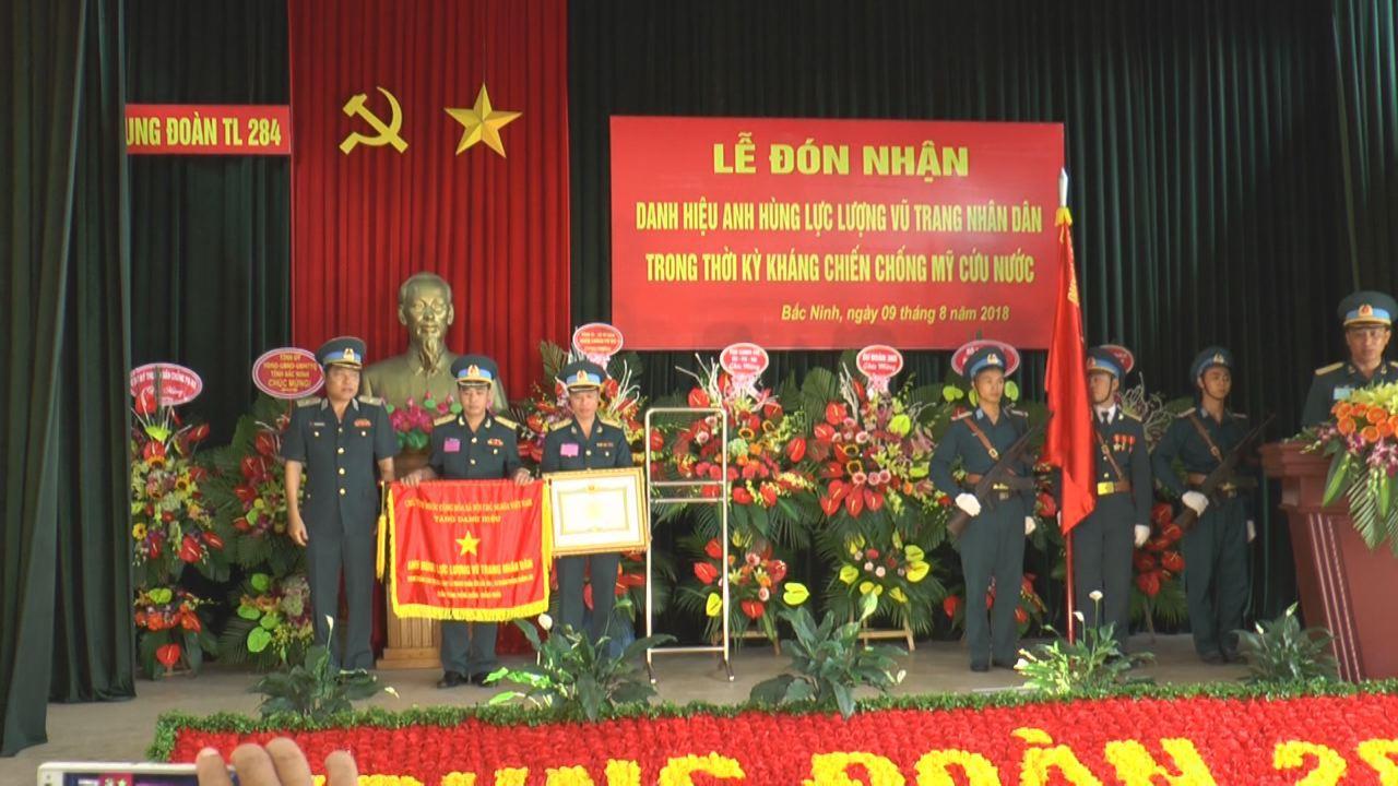 Trung đoàn 284 đón nhận danh hiệu Anh hùng lực lượng vũ trang nhân dân