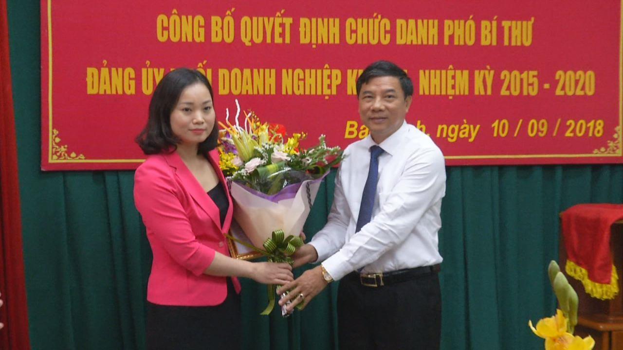 Công bố chức danh Phó Bí thư Đảng ủy Khối Doanh nghiệp tỉnh khóa 2