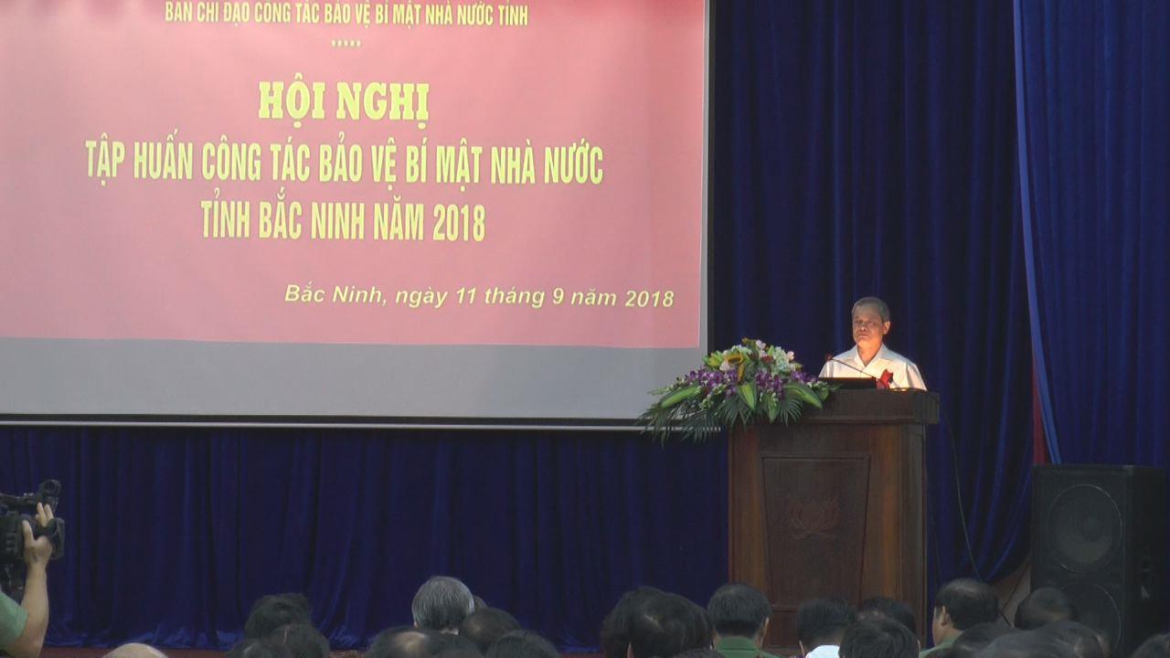 Bắc Ninh:Tập huấn công tác bảo vệ bí mật Nhà nước