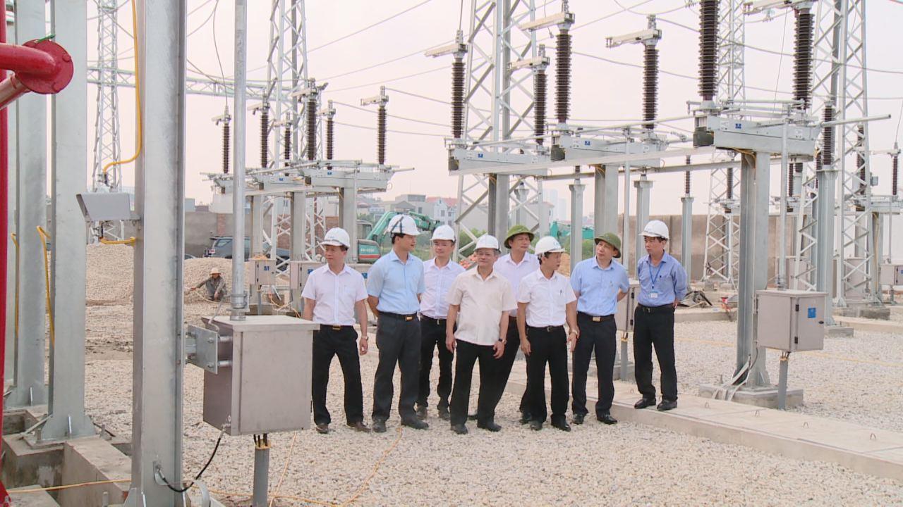 Chủ tịch UBND tỉnh thăm, kiểm tra tiến độ thực hiện Dự án đường dây và Trạm biến áp 110kV thành phố Bắc Ninh