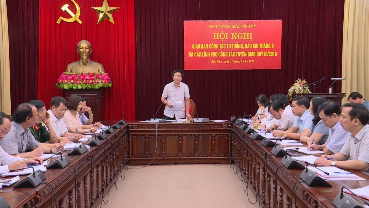 Ban Tuyên giáo Tỉnh ủy giao ban công tác tư tưởng