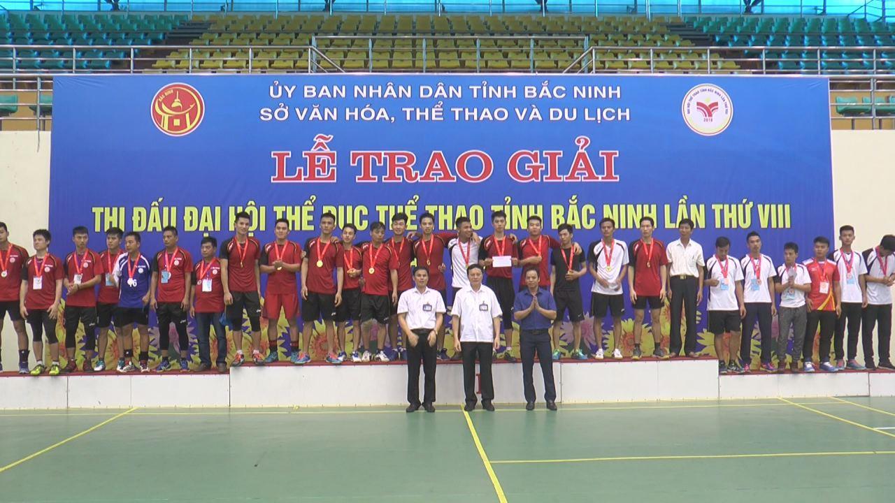 Chung kết giải bóng chuyền Đại hội Thể dục thể thao tỉnh lần thứ VIII năm 2018