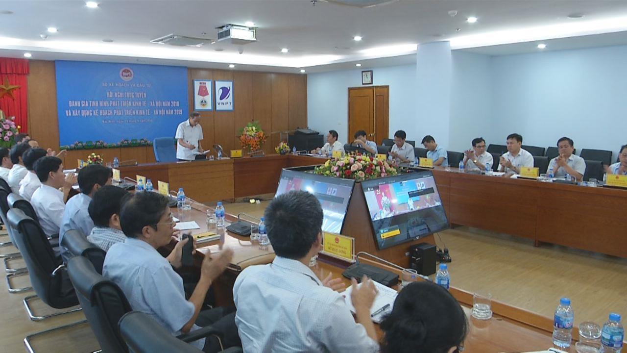 Hội nghị trực tuyến đánh giá tình hình phát triển kinh tế - xã hội năm 2018