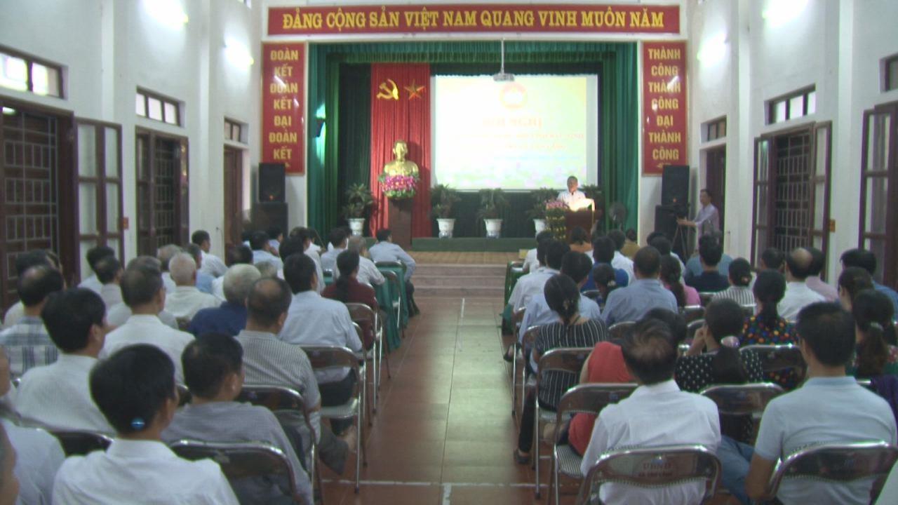 Đoàn ĐBQH tiếp xúc cử tri xã Tân Lãng, huyện Lương Tài