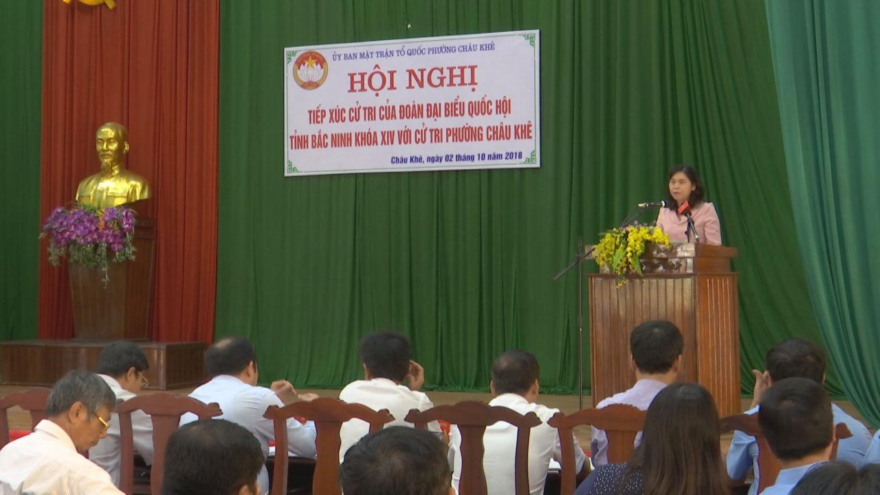 Đoàn Đại biểu Quốc hội tỉnh tiếp xúc cử tri tại phường Châu Khê, thị xã Từ Sơn